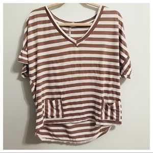 Lilly Lou Tops - Lilly Lou Striped Tee Size Medium